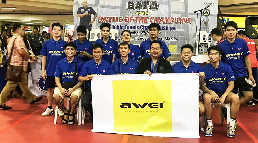 Congratulations to AWEI for Becoming the Designated Sponsor of the Philippine National Police Table Tennis League
