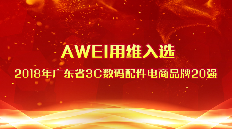 AWEI-The Top 20 of Guangdong 3C Digital Accessories E-Commerce Brands in 2018