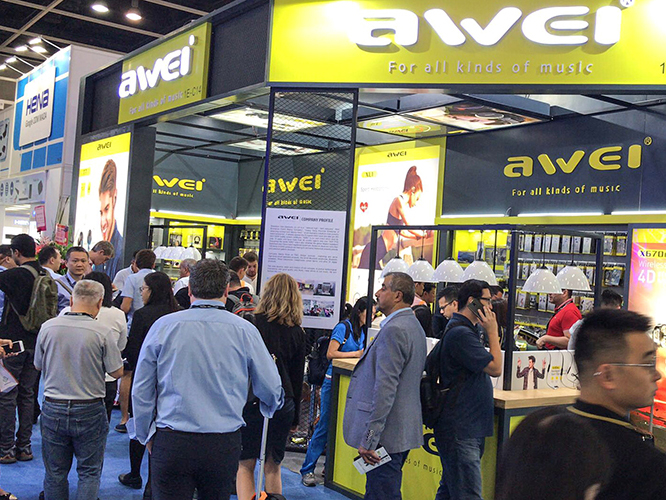 AWEI Shined at 2018 HK Autumn Electronics Fair